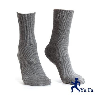 【YuFa】機能型除臭手工對目寬口運動襪(淺灰)