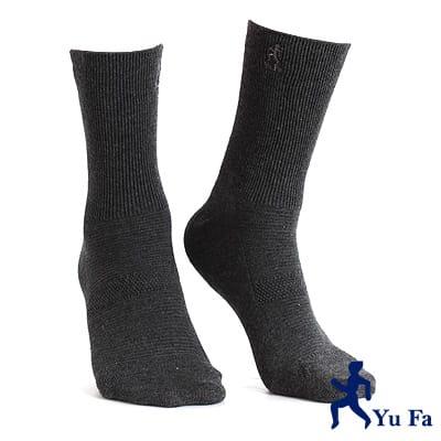 【YuFa】機能型除臭手工對目寬口運動襪(深灰)
