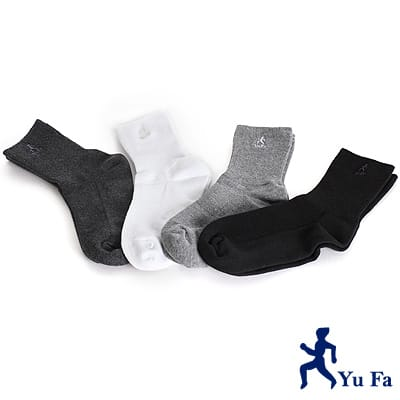 【YuFa】機能型除臭手工對目寬口運動襪3入組