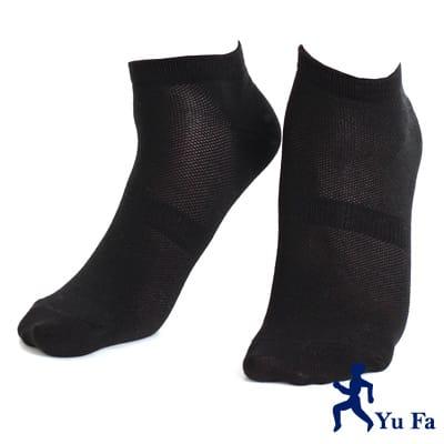 【YuFa】90˚直角不滑落設計船型襪20-24公分(黑)