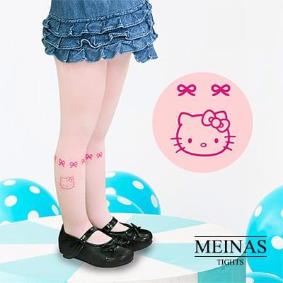 美娜斯 Hello Kitty粉紅蝴蝶結兒童絲襪/褲襪M-L(#1082 )