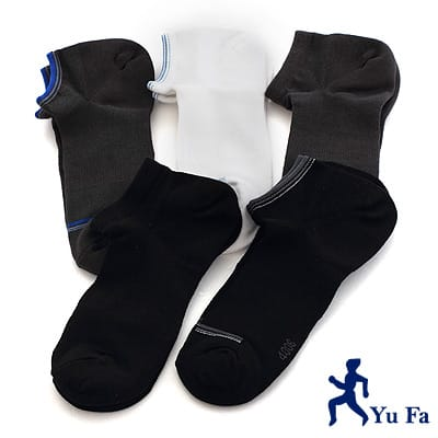 【YuFa】90˚直角不滑落設計加大船型襪25-28公分6入組
