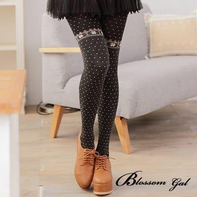 Blossom Gal日系暖冬雪花點點柔軟褲襪(共三色)