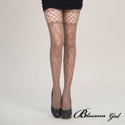 Blossom Gal 日版美式復古開洞雕空迷人網襪
