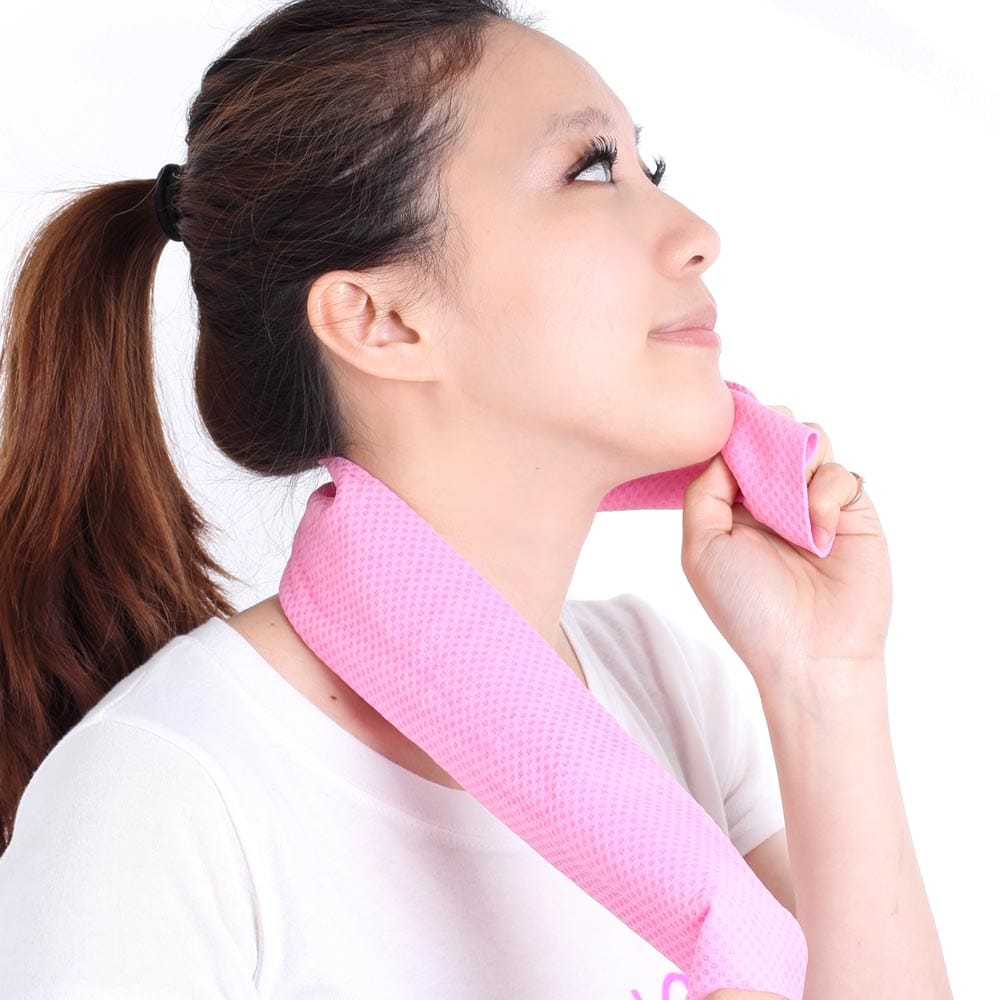 Clover瞬間涼感多用途冰涼巾(領巾)-蜜桃粉
