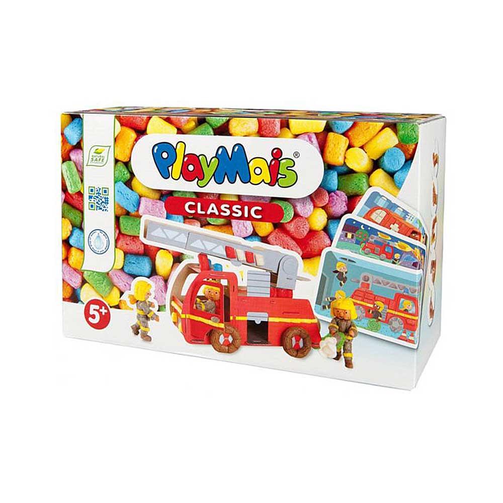 德國PlayMais 玩玉米黏土趣味學習盒-3D消防車