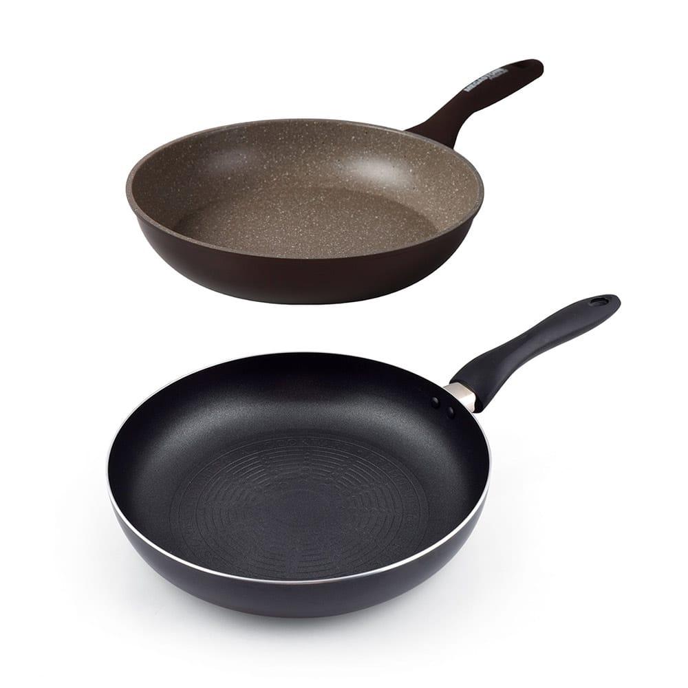 雙鍋1111│韓國CHEFWAY 26cm磨石+28cm不沾IH煎鍋 兩鍋組
