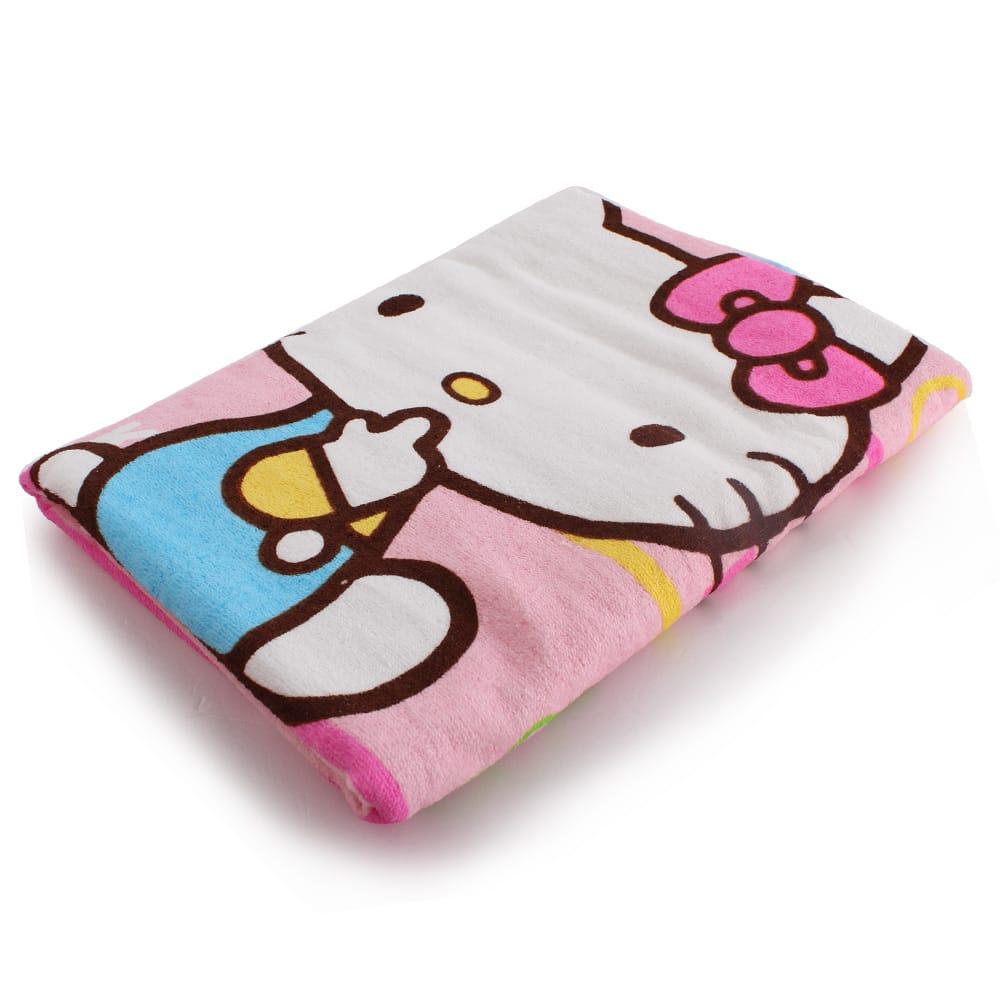 Sanrio三麗鷗Hello Kitty - 橫條紋小浴巾 (60 x 110cm)