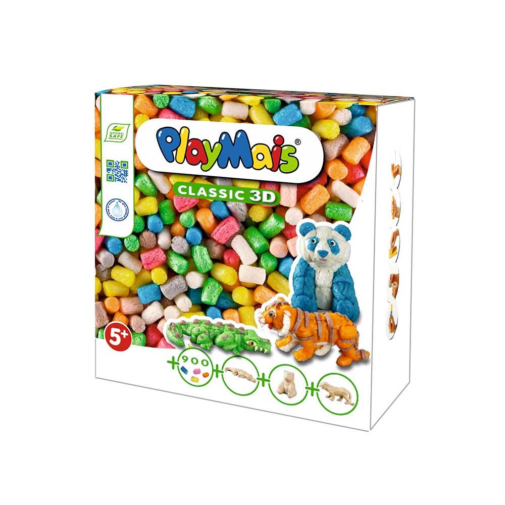 德國Playmais 玩玉米黏土3D盒-野生動物