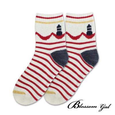 Blossom Gal 美式休閒厚實感針織短襪(燈塔白)