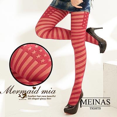 美娜斯 美國國旗絲襪/褲襪(#339)紅