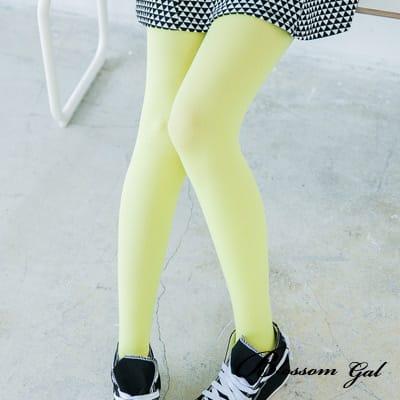 Blossom Gal 基本款微透光絲襪(亮黃)