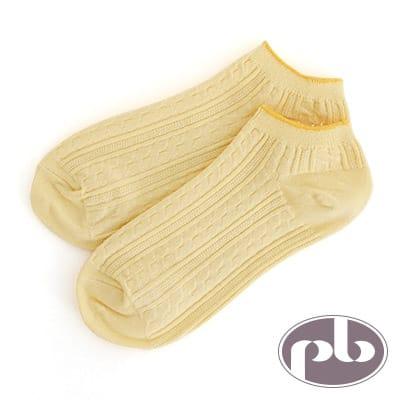 貝柔 夢幻公主萊卡超彈性船型襪(黃)
