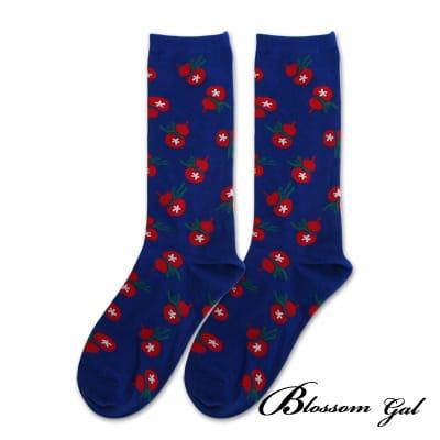 Blossom Gal 馬戲團卡通世界繽紛造型短襪(葫蘆藍)