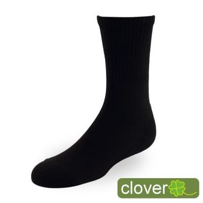 Clover甲殼素&冰涼紗抑菌吸排健康3/4運動襪(黑)