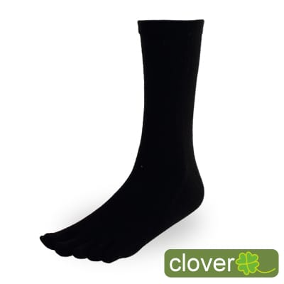 Clover甲殼素&冰涼紗抑菌吸排健康3/4五指襪12入組(共三色)