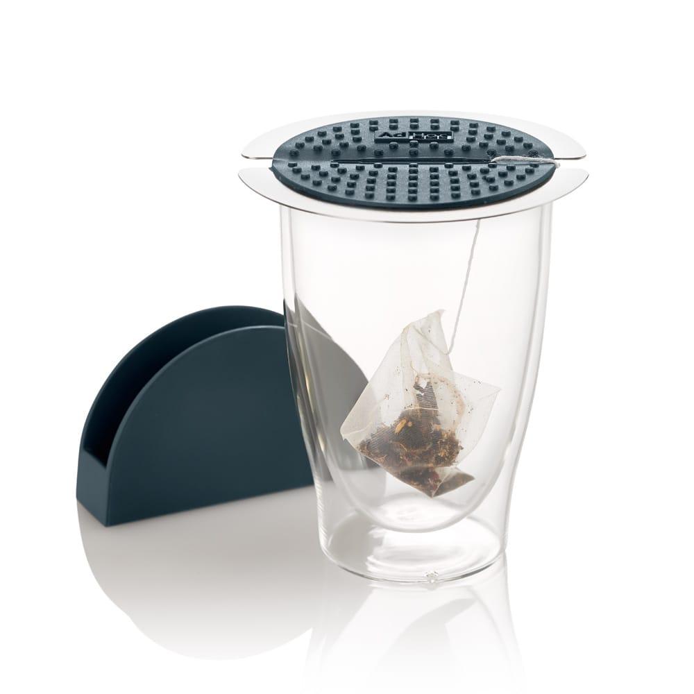 德國AdHoc 多用夾茶包杯蓋(附底座)