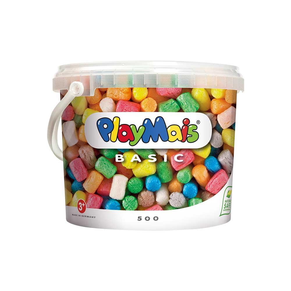 德國PlayMais 玩玉米黏土分享隨身桶(500顆)
