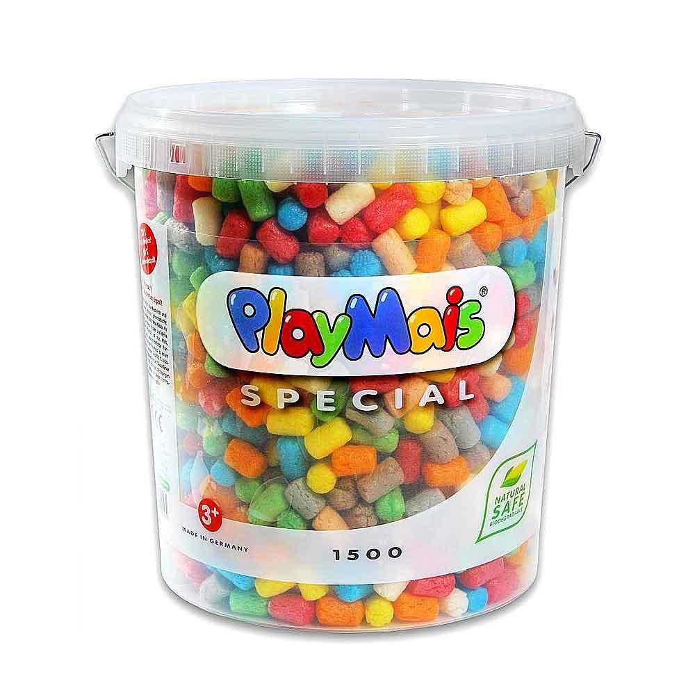德國PlayMais 玩玉米黏土分享超大桶(1500顆)
