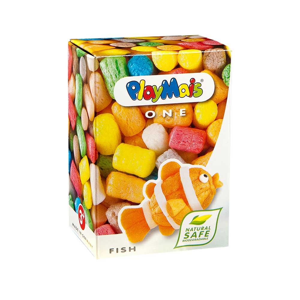 德國PlayMais 玩玉米黏土小巧盒-小丑魚