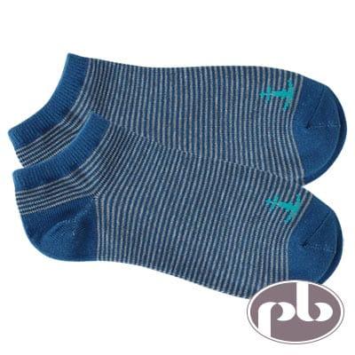 貝柔 NAVIGATOR船錨條紋船型襪3入