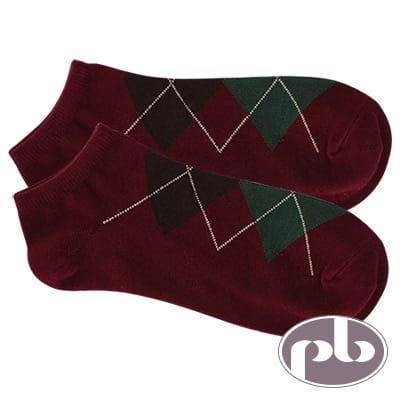 貝柔 NAVIGATOR菱格紋船型襪3入