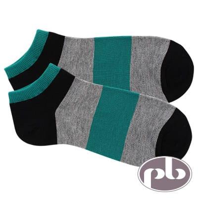 貝柔 NAVIGATOR寬版橫條紋船型襪3入