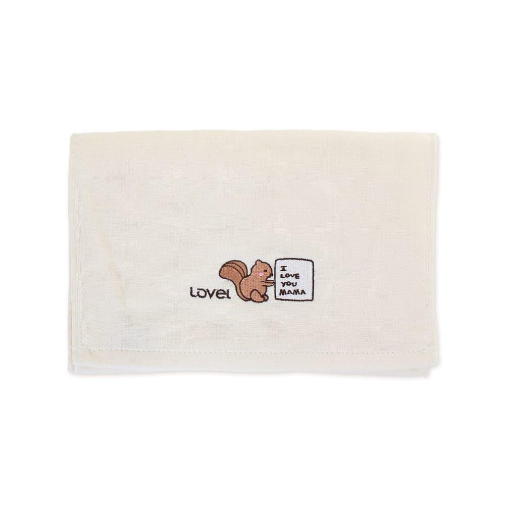 Lovel 天然有機棉紗布童巾-松鼠Baby