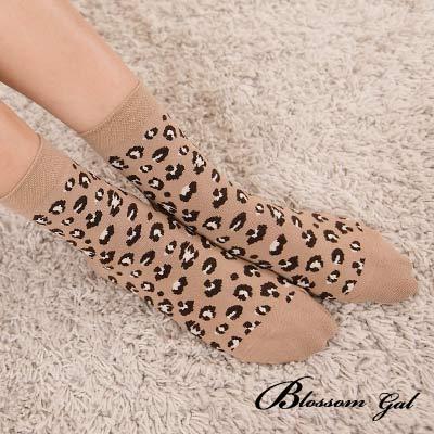 Blossom Gal韓國復古經典豹紋短襪(共三色)