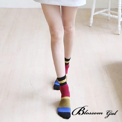 Blossom Gal古著復古配色短襪(共三色)