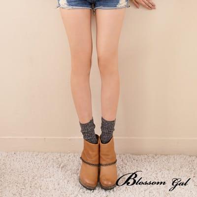 Blossom Gal簡約日系混色直紋短襪(共七色)