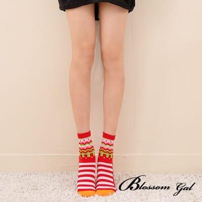 Blossom Gal韓國大圓點蝴蝶結短襪(共七色)