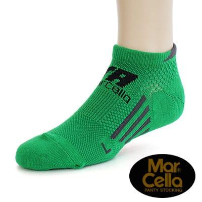 瑪榭 RUN足弓防護360度機能船型襪素面(25-27cm)-綠