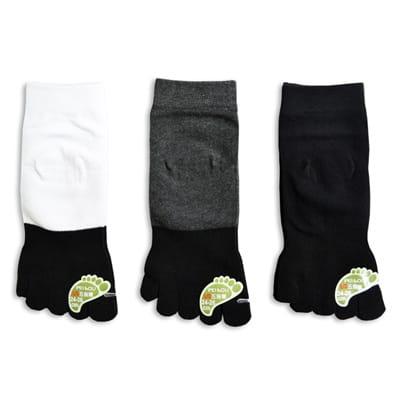 貝柔 甲殼素機能抗菌吸濕排汗五指襪(短)