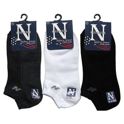 貝柔 【6雙】navigaror 素面logo細針精梳棉船型襪