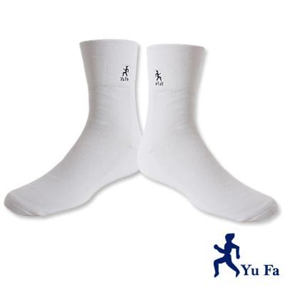 YuFa厚底加大寬口氣墊襪/紳士襪(純白)