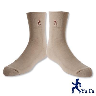 YuFa厚底加大寬口氣墊襪/紳士襪(卡其)