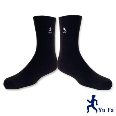 YuFa厚底加大寬口氣墊襪/紳士襪(黑色)