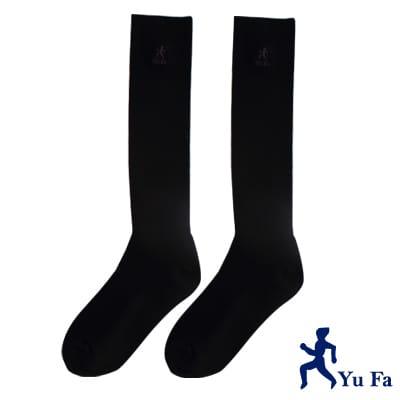 YuFa機能型除臭手工對目寬口運動長筒襪(黑)
