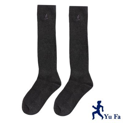 YuFa機能型除臭手工對目寬口運動長筒襪(灰)