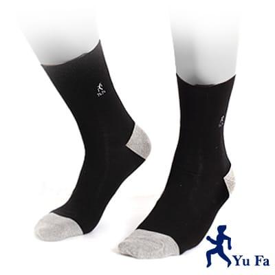 【YuFa】三合一強效銀纖維除臭健康運動襪(黑)