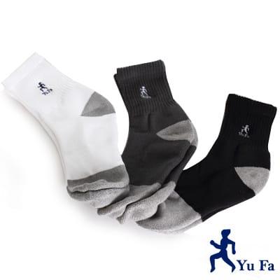 【YuFa】三合一強效銀纖維除臭健康運動襪3入組