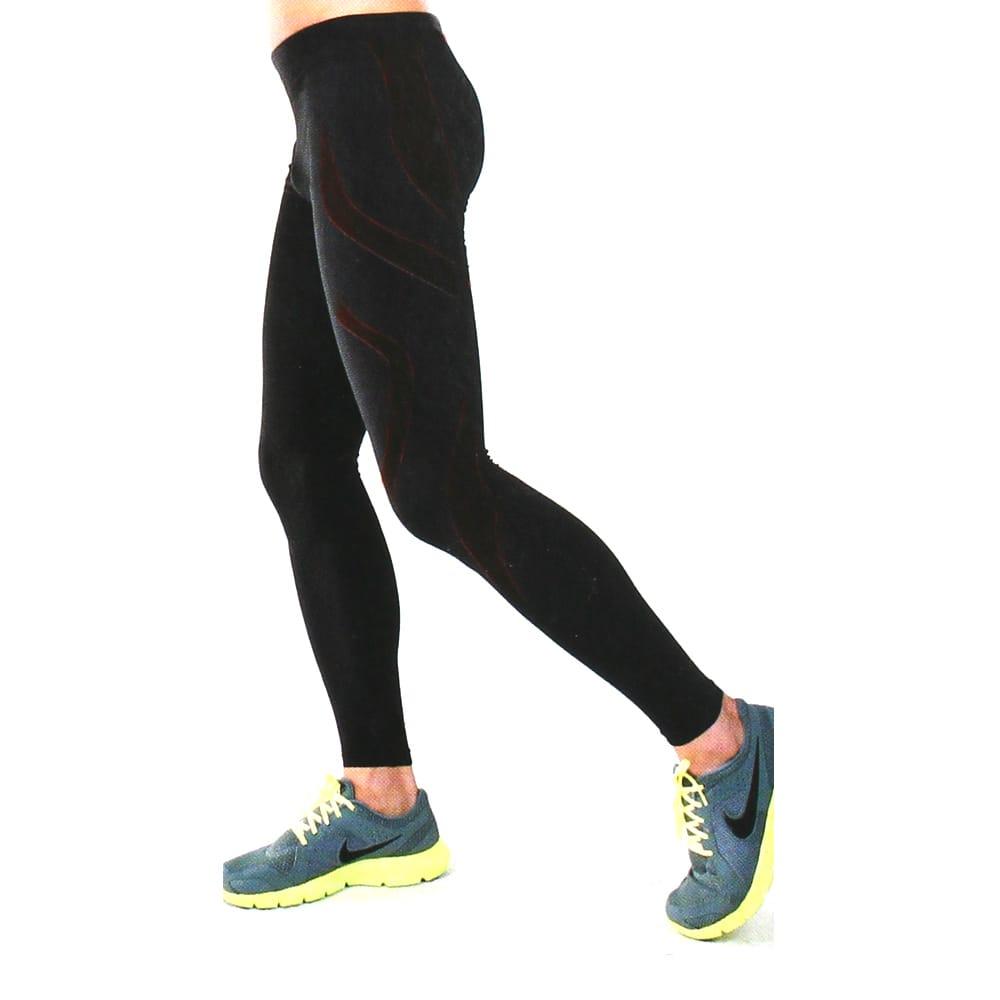 YuFa裕發 彈力服貼吸濕排汗男性運動專用九分運動褲(黑)