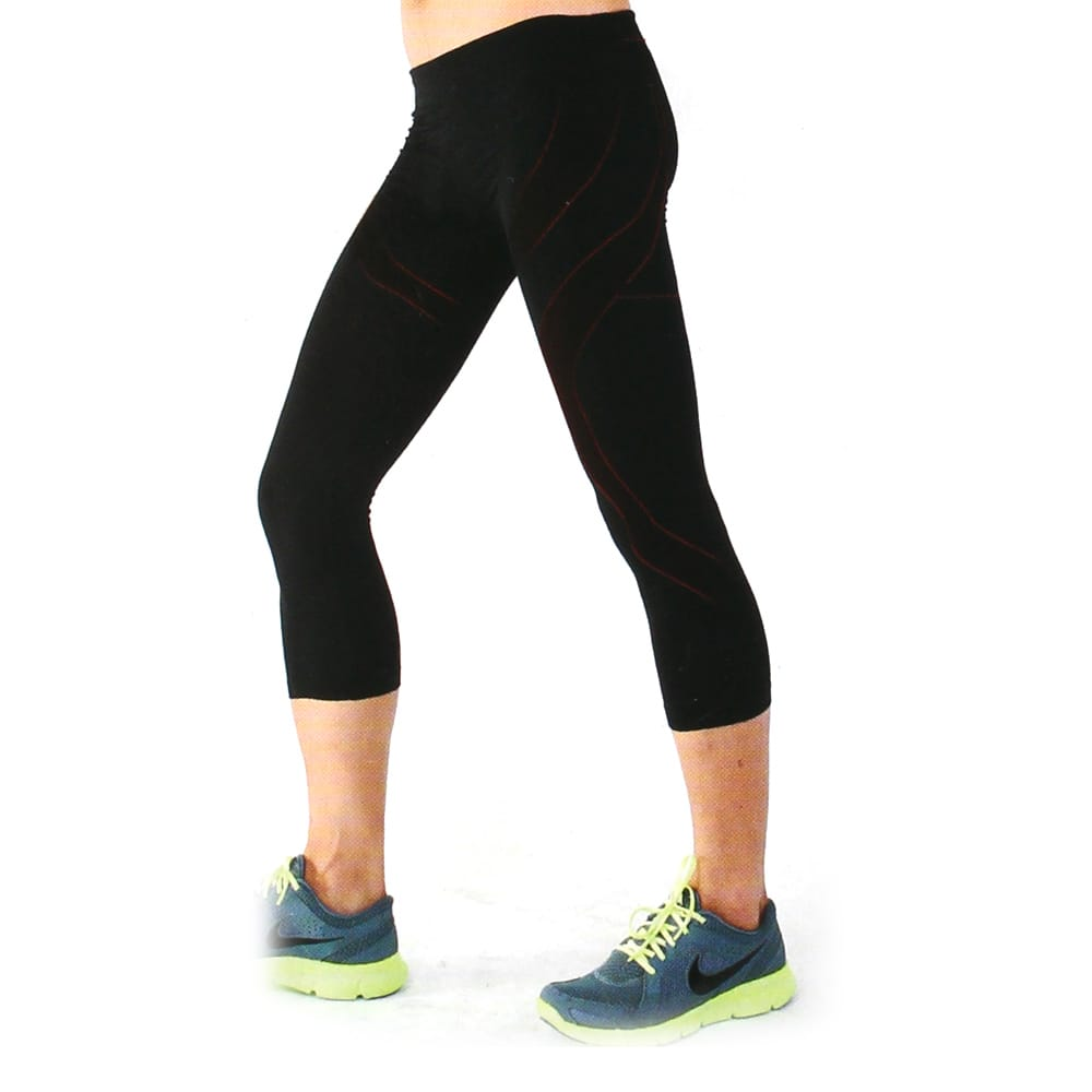YuFa裕發 彈力服貼吸濕排汗男性運動專用七分運動褲(黑)