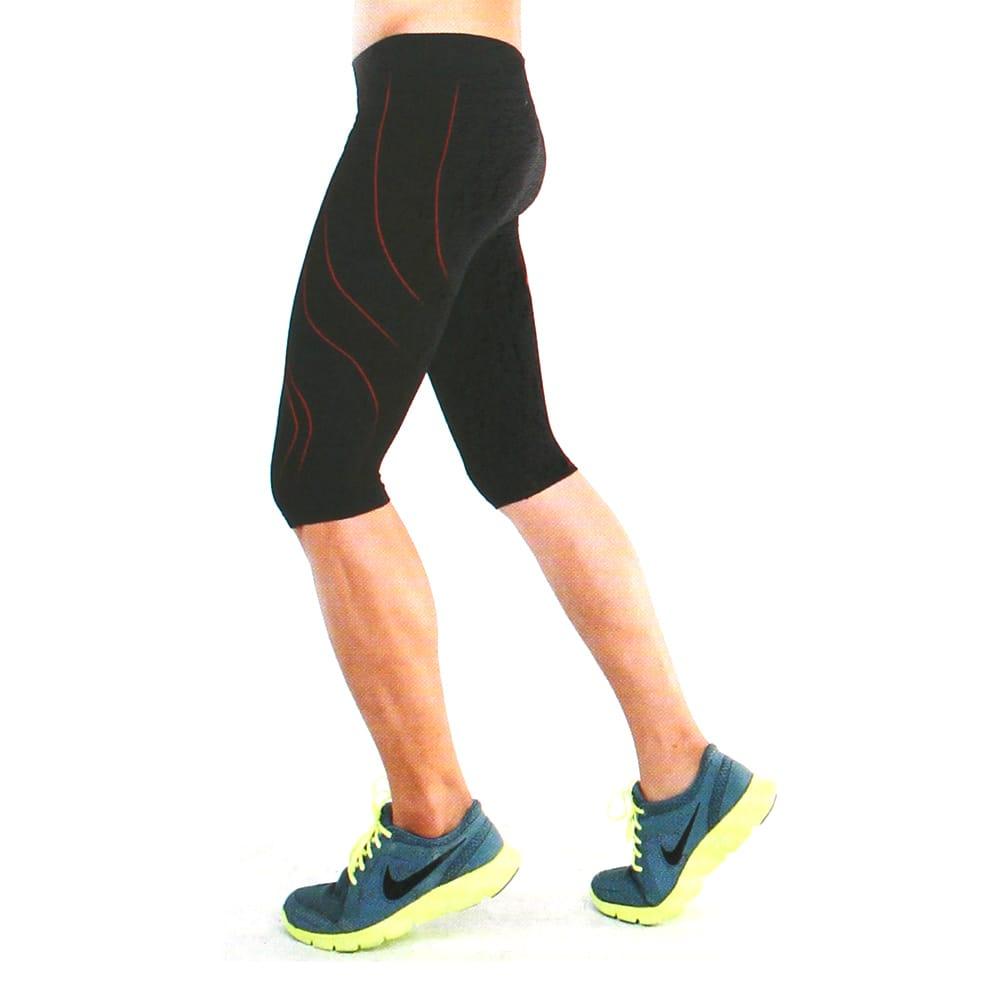 YuFa裕發 彈力服貼吸濕排汗男性運動專用五分運動褲(黑)