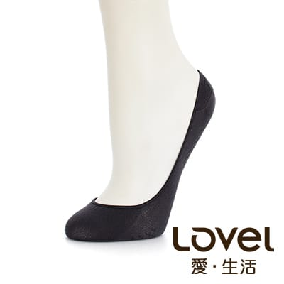 LOVEL 全新升級涼感雙止滑隱形襪套(柔灰)