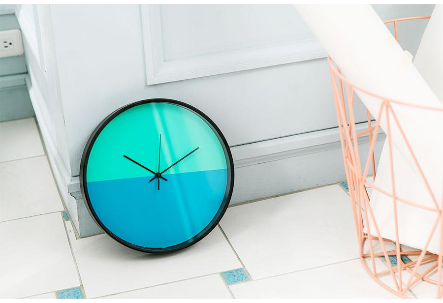Lovel 30cm美式極簡金屬框靜音時鐘 - 共3款